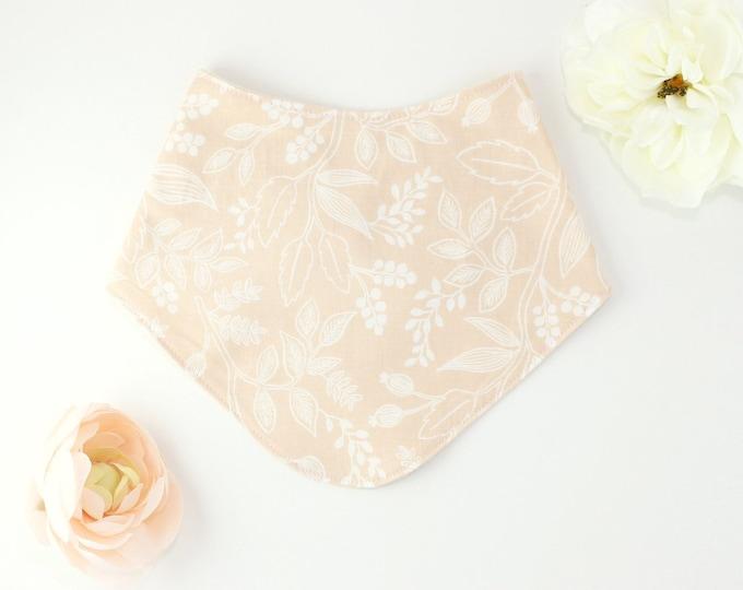 Drool bib // peach floral