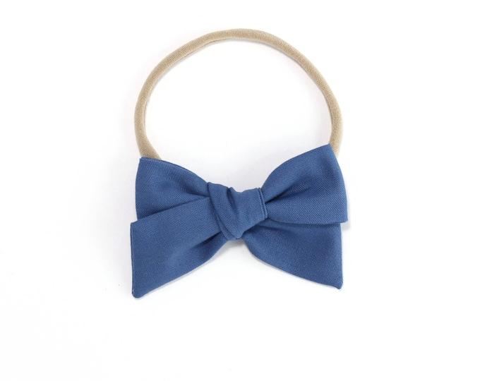 Cadet Blue // Sailor bow