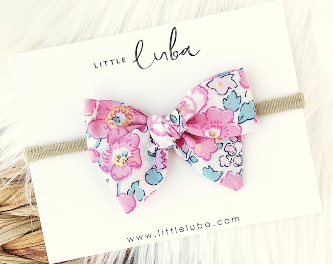 Pink floral // Sailor bow