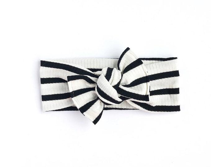 Ivory + Black // Tie on