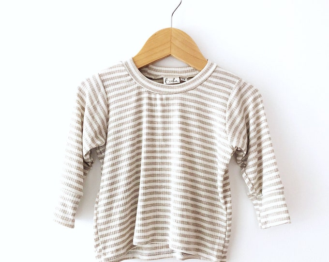 Cream stripe shirt