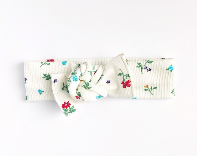 Spring floral // Tie on headwrap