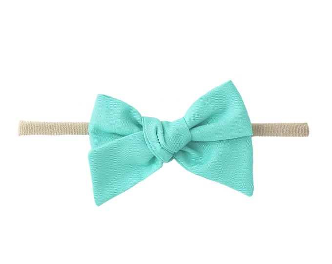 Teal // Sailor bow