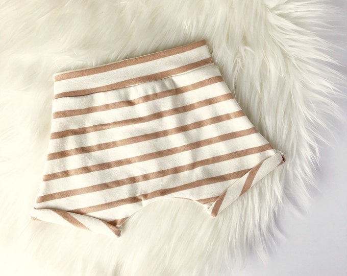 Tan stripe shorties