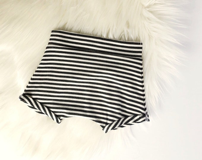 Charcoal stripe shorties