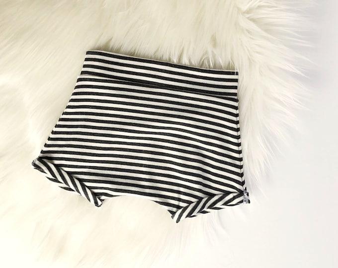 Charcoal stripe shorties