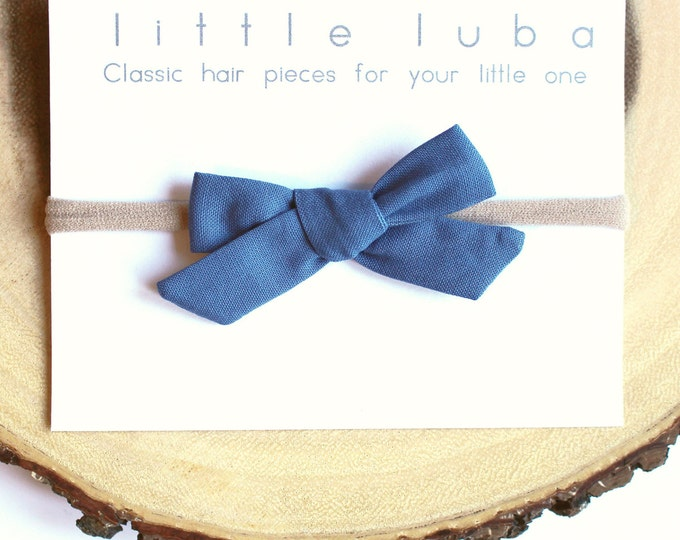 Cadet Blue // Schoolgirl Bow