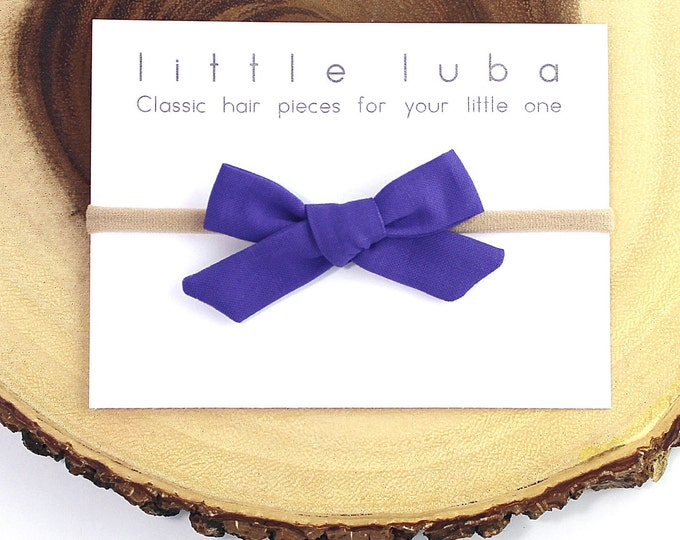 Purple // Schoolgirl bow