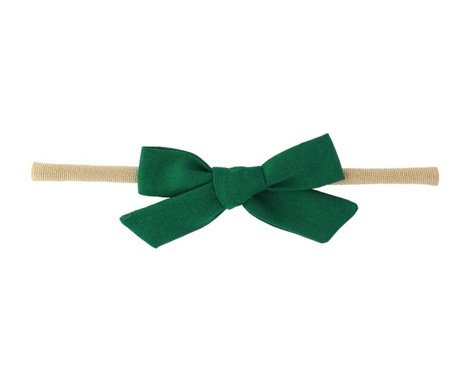 Forest Green // Schoolgirl Bow