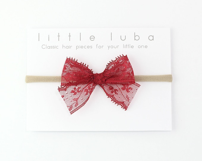 Cranberry // Lace Bow