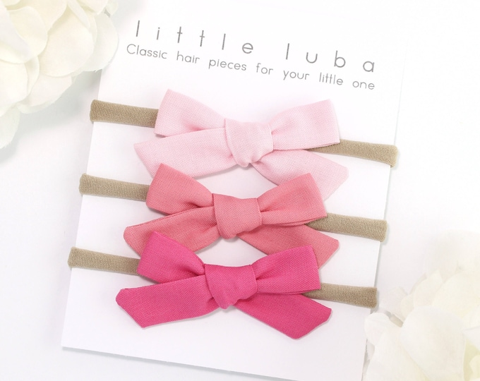 Set of 3 schoolgirl bows