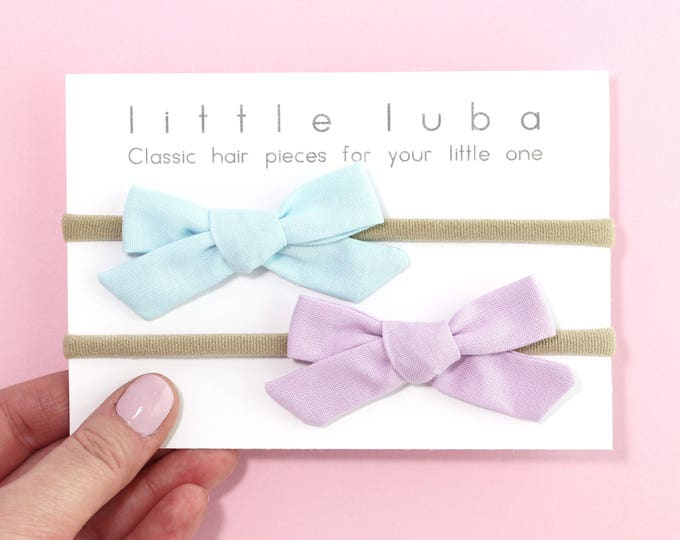 Set of 2 // Baby Blue + Petunia