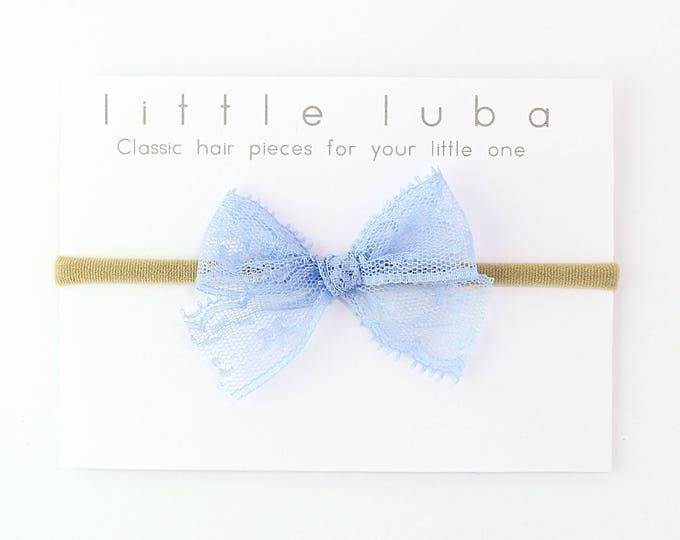 Blue // Lace Bow