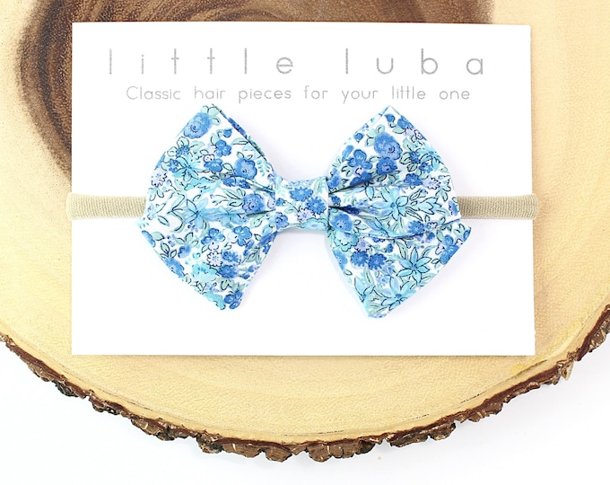 Classic Bow // Blue Floral