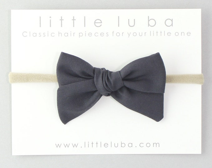 Charcoal // Sailor bow