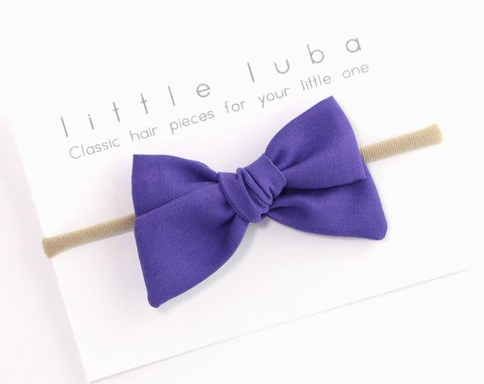 Purple  // Hand-Tied Bow
