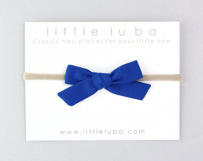 Royal Blue // Schoolgirl Bow