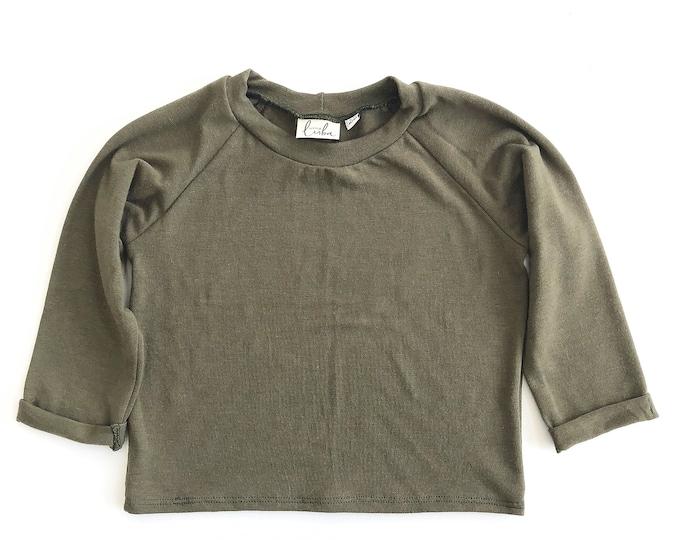 Olive raglan shirt