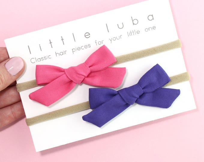 Set of 2 // Barbie pink + Purple