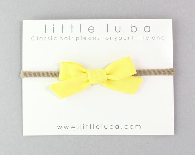 Yellow // Schoolgirl Bow