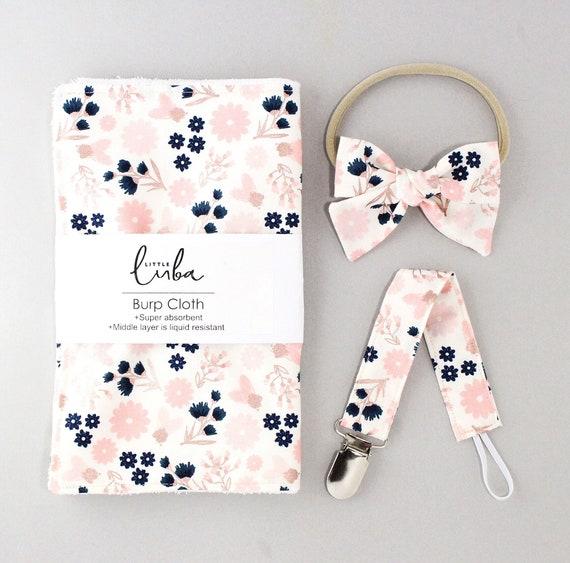 Rose gold floral // Baby gift set