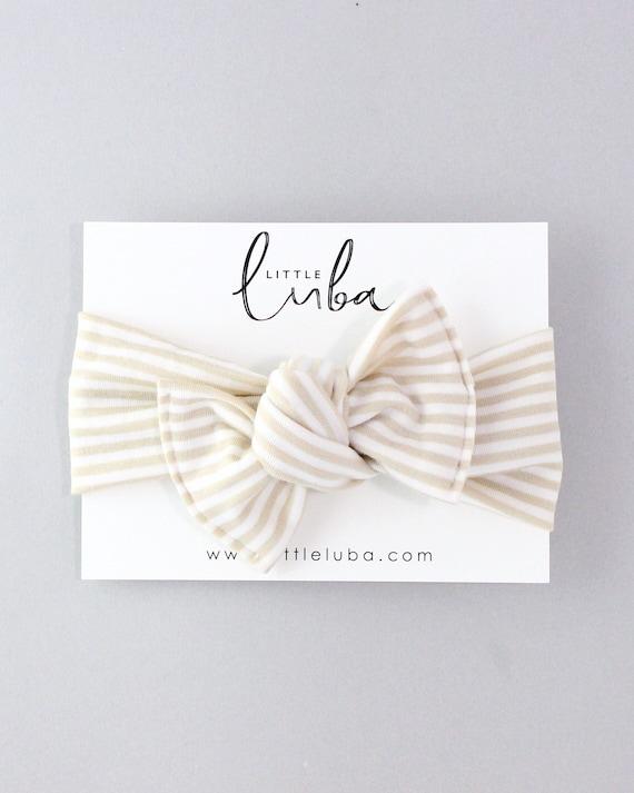 Cream + White // Tie on headwrap