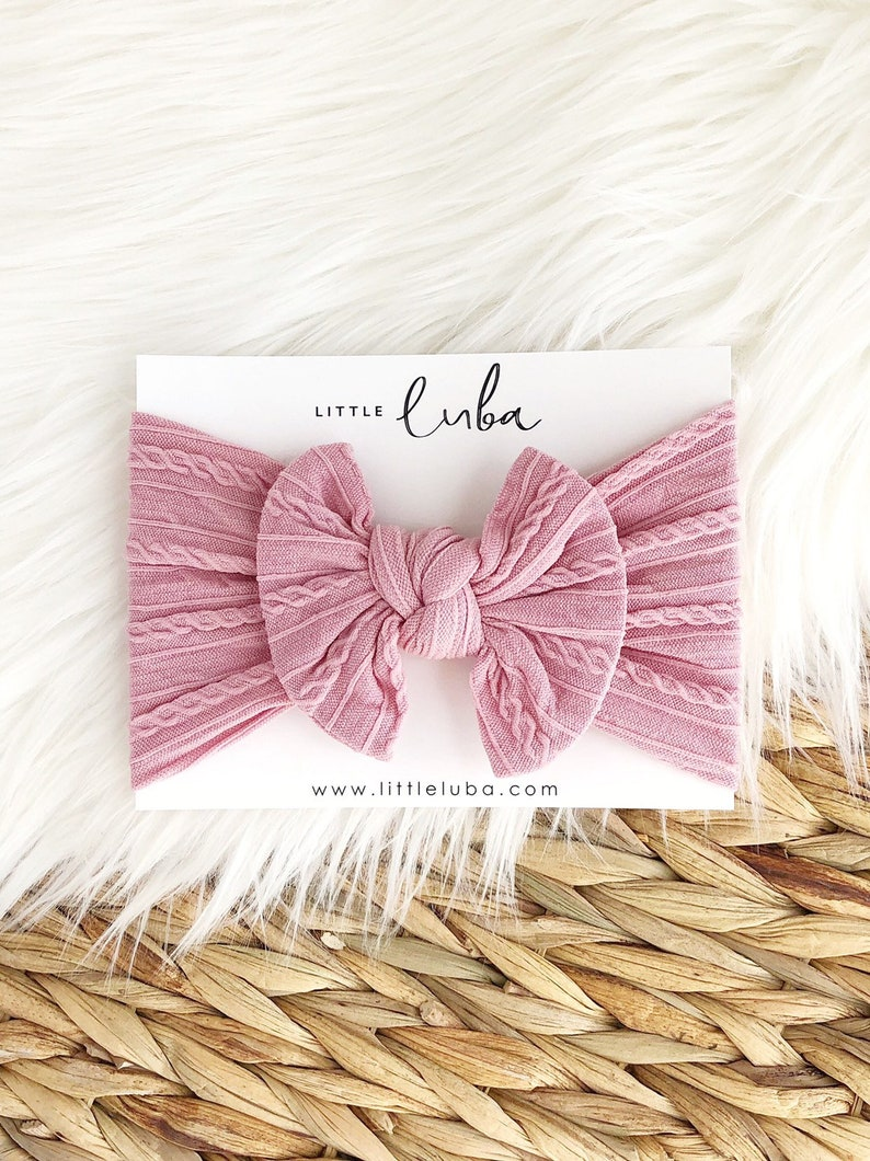 CABLE rose Top knot baby headwrap baby girl headwrap knotted turban knotted headwrap top knot bow baby girl headwraps girl headwraps