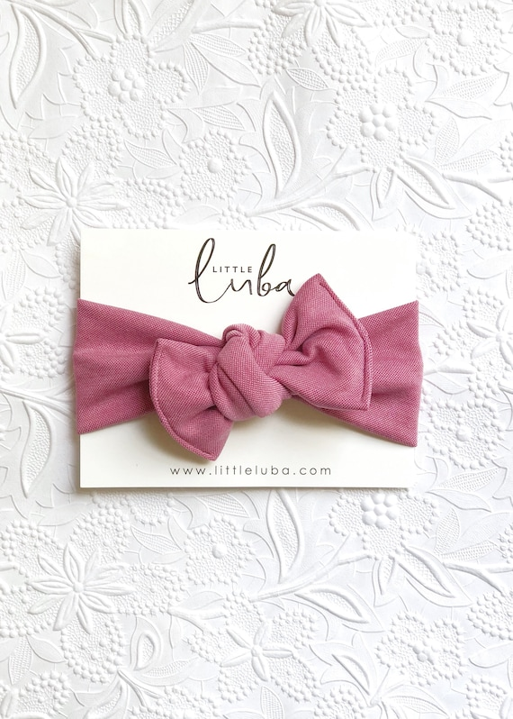 Blush pink // Tie on headwrap