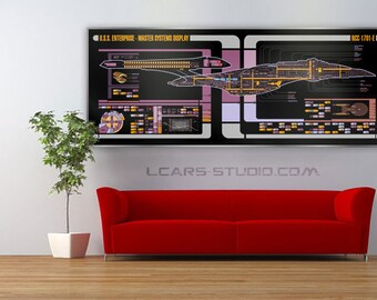 Star Trek Schematic LCARS USS Enterprise 1701-E Large Print