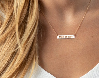 Gift for Mom - Mothers day gifts - Simple Bar Necklace - Gift for wife - Mothers Necklace