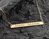 Mom Necklace - Kids Names on a Bar Necklace - Mothers Necklace - Gift for Mom or Wife