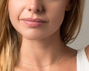 Dainty Thin Chain Necklace - Layering Necklace - Thin Gold Chain Necklace - Everyday Necklace