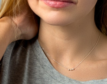 Mothers gift - Dainty Necklace - Jewelry gift for her - Simple Bead necklace - Circle Necklace - Mother Gift Idea