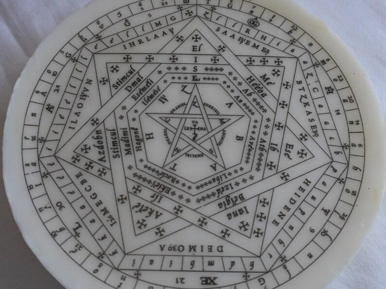 White Sigillum Dei Aemeth | Seal of God | John Dee | Enochian Magic |  Enochian Magick | Sigillum Dei | Sigil