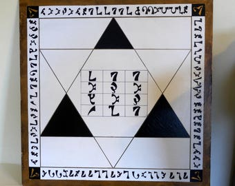 Enochian Table Top (black and gold)