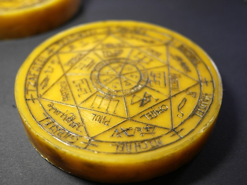 CLEARANCE ITEM (2): Planetary/Archangel Pentacle in pure beeswax | Seals of  The Seven Archangels