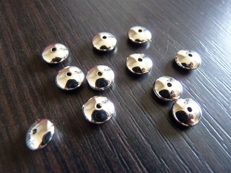 10 pearls silver 8 mm acrylic