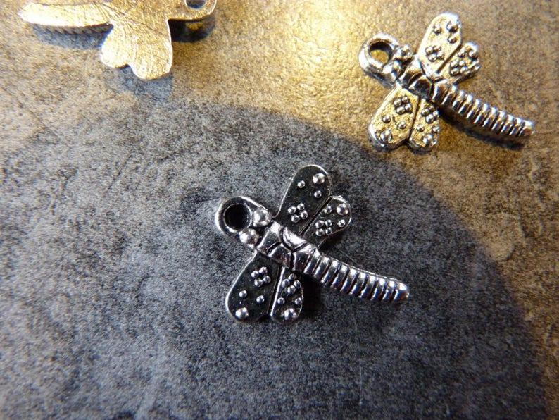 Charm  Charm Dragonfly decoration X 2