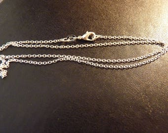 Stunning 925 Silver chain mesh thin 1 mm 925 sterling silver with clasp (42cm)