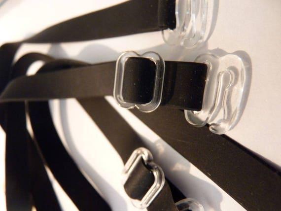 profitez de la livraison gratuite factory design distinctif Bretelles fines amovibles de soutien gorge noire mat 1cm