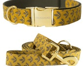 Dog collar GREEN GLOW - handmade in Germany-