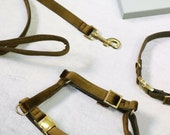 Stylish dog harness EVERGREEN - handmade in Germany
