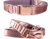 Designer dog collar PASTEL POWDER - handmade in Germany -