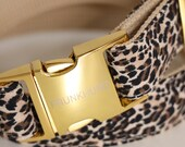 Designer dog collar WILD LIFE - Leopard pattern - Prunkhund handmade in Germany