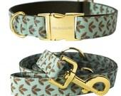 Dog collar TEAL GLOW - handmade in Germany-