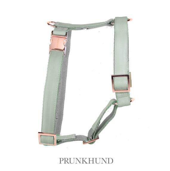 Stylisches Hundegeschirr MINT Metallteilen in rose   Etsy