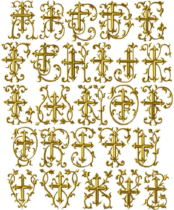 """ABC Designs Christmas Gold 26 Machine Embroidery Designs Set for 4/""""x4/"""" Hoop"""