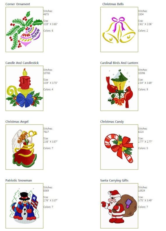 "ABC Christmas Motifs Machine Embroidery 13 Designs 4/""x4/"" hoop"
