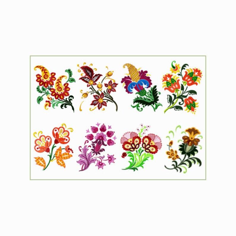 Inteligentny Fantasy kwiaty 9 maszynowy wzory haftu na 5 X7 | Etsy VF13