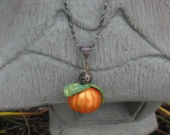 Pumpkin Necklace Polymer Clay
